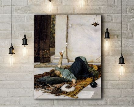 John William Waterhouse: Dolce Far Niente. Fine Art Canvas.